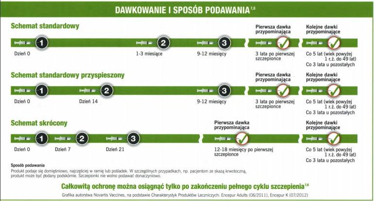 KZM - szczepionka firmy GSK - Encepur - schemat podawania